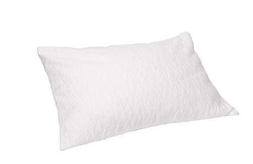 Natural Shredded Rubber Pillow - JustNile King Size 100% Natural Latex (Shredded) Adjustable Hypoallergenic Pillow with Ventilated Plush Foam, Provide Soft Ergonomic Comfortable Sleep Support - Standard Size, Extra Cover Included