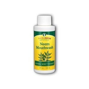 Theraneem Organix Herbal Neem Mouthrinse Travel Size, 2 Ounce (Pack of 6)