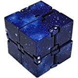 EVERMARKET Infinity Fidget Cube for Kids and Adults, Stress and Anxiety Relief Cool Hand Mini Kill Time Toys Infinite Cube for Add, ADHD (Blue Galaxy Space) ()