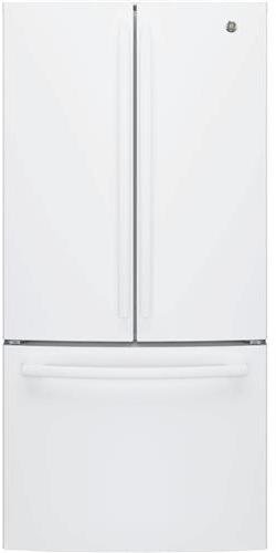 GE GWE19JGLWW 33 Inch Counter Depth French Door Refrigerator in White (Built In French Door Refrigerator)