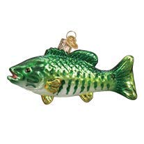 Old Fishing Boat - Old World Christmas Smallmouth Bass Glass Blown Ornament