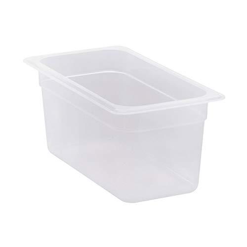 Cambro 36PP190 1/3 Size Polypropylene Food Pans, Translucent (6/Case)