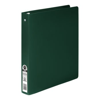 """Kensington Computer Products Group Accohide Poly Round Ring Binder, 35-Pt. Cover, 1"""""""" Cap, Dark Green from Kensington Computer Products Group"""