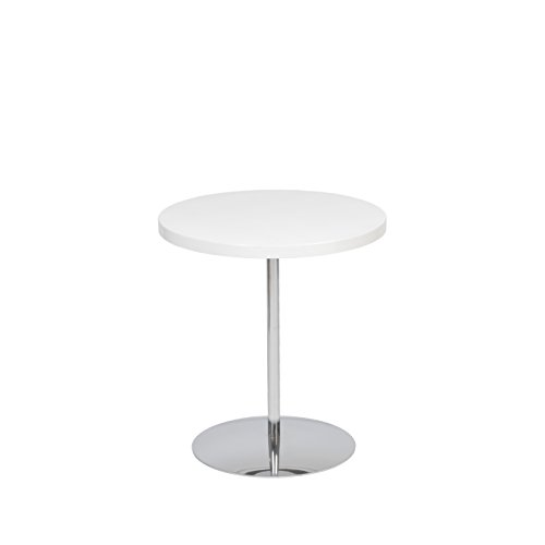 Euro Style Raymond Wood Top Height Adjustable Table, White