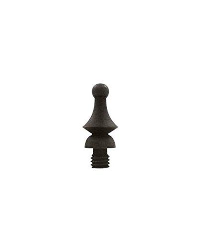 - Deltana Windsor Tip Solid Brass Cabinet Finial (Set of 10) (Satin Nickel)