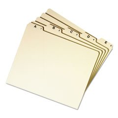 Recycled Top Tab File Guides Alpha 1/5 Tab Manila Letter 25/Set
