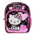 New Sanrio Hello Kitty Pink/ Black Mini Backpack with Heart School Bag (JoyAve)