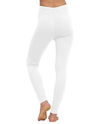 AUSELILY Legging Souple Taille Haute pour Femme Pantalon Slim Confortable Collants Extensibles