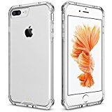 Pajuva iPhone 7 Plus Case, PC and TPU Transparent Thin Crystal Phone Case With Bumper, Clear