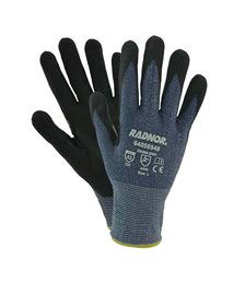 Radnor Large Radnor 15 Gauge HPPE and Microfoam Nitrile Cut Resistant Gloves with Microfoam Nitrile Coating on Palm and Fingertips (16 Pairs) by Radnor Safety (Image #1)