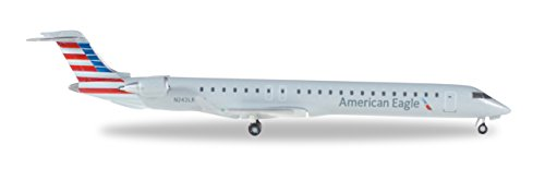 HE528856 Herpa Wings American Eagle CRJ900 1:500 Model Airplane - Eagle Diecast Model