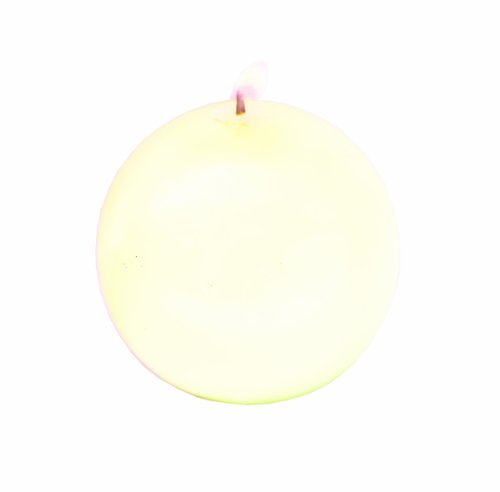 Biedermann Round-Shaped 4-Inch Diameter Ball Candles, Cream, Set of 6