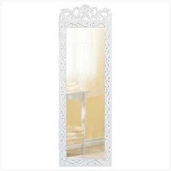 Home Locomotion - Elegant White Wall Mirror (Pack of 1 EA)