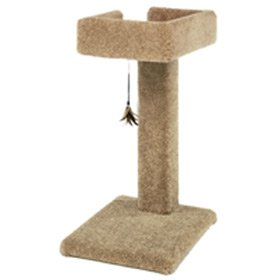 Ware Manufacturing Carpeted Kitty Cactus Scratch Post with Toy, 24-Inch