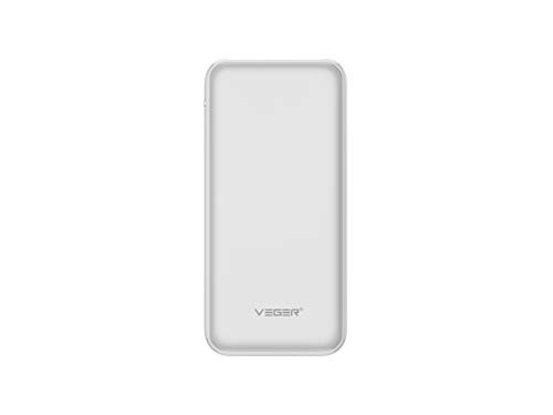 Veger W1059 Slim Body 10000 mAh Li Polymer Power Bank  White
