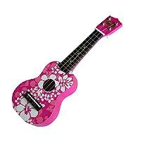 Pink Floral Keiki Ukulele 17'' by KC Hawaii