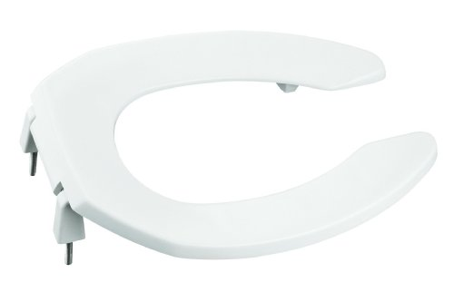 KOHLER K-4679-CA-0 Lustra Elongated Open-Front Toilet Seat with 1