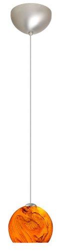 Palla 1 Light Mini Pendant Finish: Satin Nickel, Glass Shade: - 5 Pendant Mini Palla