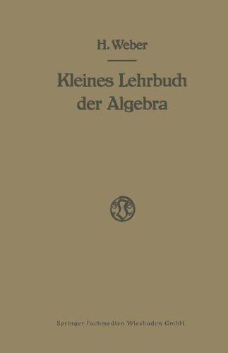 Lehrbuch der Algebra: Kleine Ausgabe in Einem Bande  [Weber, Heinrich] (Tapa Blanda)