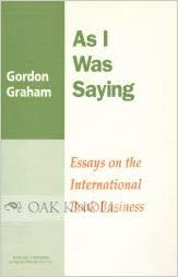 as i was saying essays on the international book business studies  as i was saying essays on the international book business studies on  publishing no  paperback  february