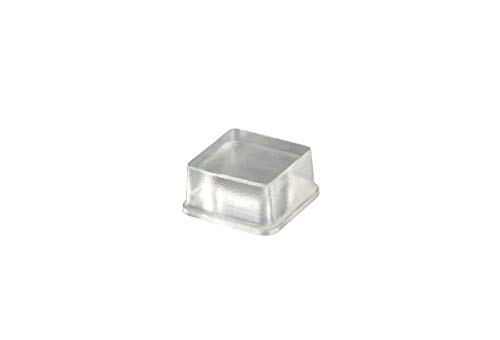 Self-Stick Square Rubber Bumper Pads for Furniture and Electronics .780 inches (19.8 mm) x .380 inches (9.7 mm) - 25 pack - BS04 Clear