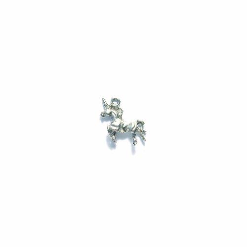 Shipwreck Pewter Unicorn Charm, Metallic, Silver, 18 by 2...