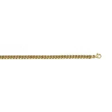 "Or jaune 14 carats 5,5 mm-Link Bracelet chaîne JewelryWeb - 8 """