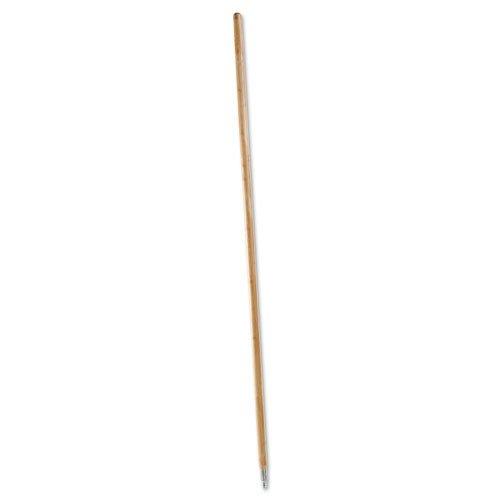 (Boardwalk 138 Metal Tip Threaded Hardwood Broom Handle, 1 1/8 Dia X 60, Natural)