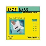Thomastik-Infeld Bass Guitar Strings: Jazz Round Wound 4-String Long Scale Set; Pure Nickel Rounds G, D, A, E Set ()