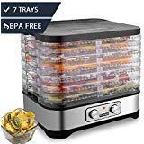 Homdox Food Dehydrator Machine, Jerky Dehydrators with 8 Trays, for Jerky/Meat/Beef/Fruit/Vegetable, 400Watt, Knob Button by Homdox