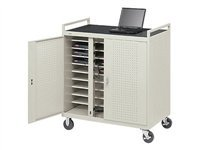 30-Compartment Laptop Storage and Charging Cart Caster Size: 5