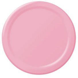 - Amscan Big Party Pack 50 Count Paper Dessert Plates, 7-Inch, New Pink