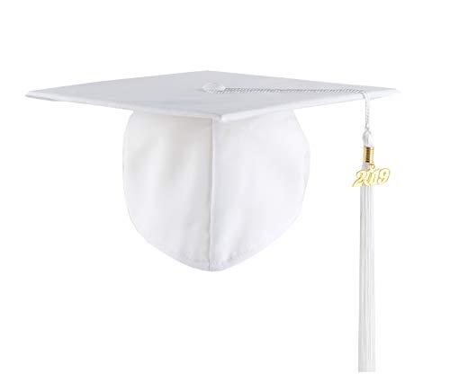 UIALECG Graduation Unisex Matte Adult Graduation Cap Tassel 2019 -