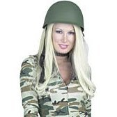 Charades Unisex-Adult's G.I. Helmet, Green, One Size]()