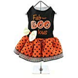 DOGGIE DESIGN Holiday Dog Harness Halloween Dress - Fab-Boo-lous (L)