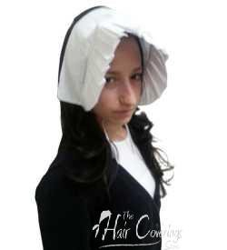 [17043 Costume Puritan Quaker Bonnet Cotton] (Quaker Costumes)