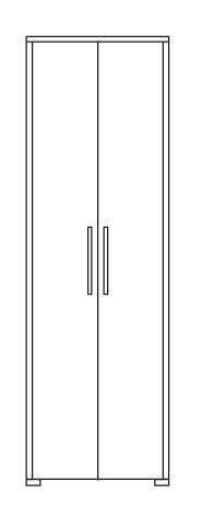 Gradel Constanze Dielenschrank mit 1 Hutboden und ausziehbare Kleiderstange in Kernbuche massiv geölt