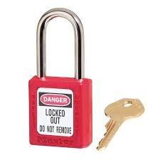 Master/American Lock Company Padlock, 410 Xenoy Safety Lockout Padlock Red, Keyed (Padlocks American Lockout Safety)