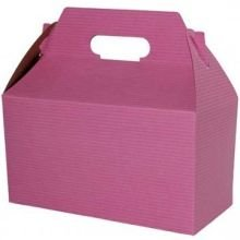 Boxit Strawberry Pinstripe Gable Boxes with Auto Bottom, 6 x 4 x 4 inch -- 100 per case.