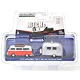 Volkswagen Type 2 Bus - GREENLIGHT 1: 64SCALE HITCH & TOW V-DUB ASSORTMENT 1974 VOLKSWAGEN TYPE 2 BUS & AIRSTREAM