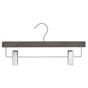 14'' Graywash Wooden Hanger, Pant, 100 per set by Retail Resource