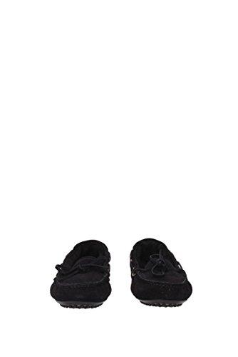 Car Shoe Mocassins Femme - Suède (KDD34M) EU Noir YaD3ETN