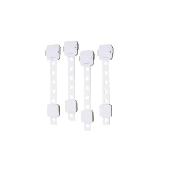 Amazara Baby Safety Locks for Cabinets, Drawers, Fridge, Toilet Seats, Furniture | Extra Strong 3M Tape | Pack of 4