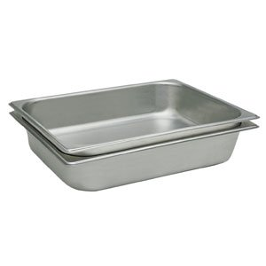 - Winco SPJH-104 Stainless Steel Full-Size Anti-Jamming Steam Table Pan - 4
