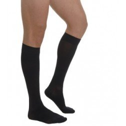 Knee High Compression Socks 15-20 mmHg (CE 18-22 mmHg) For Women&Men. Made in Italy. Recommended For Athletic Sports, Running, Flight Travel Size M, Color Black (MC105US) by KX MEDICAL