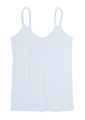 (Ann Taylor LOFT Women's Split Strap Clean Cami (Large, Hush Blue))
