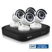 Swann SWDVK-849804-US Super HD 4 x 5MP Expandable Surveillance Security System, 8 Channel 2TB DVR, White (Swann Security)