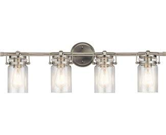Kichler Lighting Four Light Bath from The Brinley Collection
