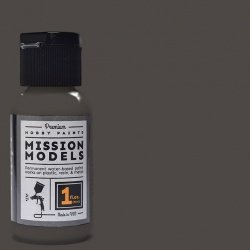 Mission Models Premium Hobby Paints - Metallic Burnt Iron 1 (1oz bottle)