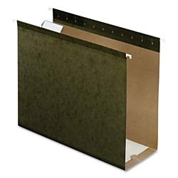 Pendaflex Premium Reinforced Extra-Capacity Hanging Folders, 4'' Expansion, Letter Size, Green, Pack of 25 by Pendaflex